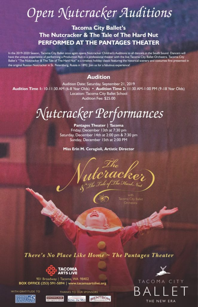 2019 Nutcracker Open Audition Poster
